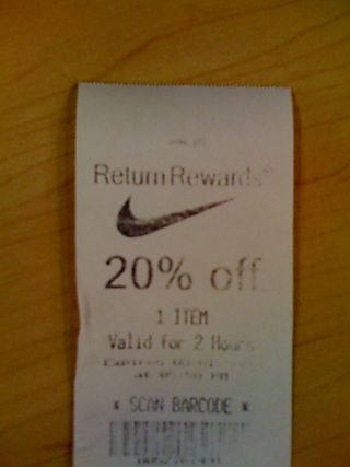 The brilliant thing about this is that the folks at Nike used a simple  incentive to convert me - someone who only wanted to return an item that  day - to an ...